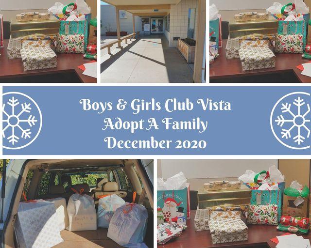 Boys and Girsl Club Vista Adopt A Family!